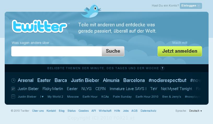 Twitter 31.03.2010